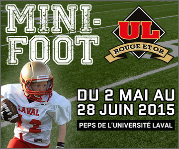 Mini rouge et or football 2015