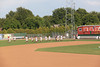 Wisconsin Timber Rattlers practicing before the game
