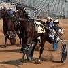 Driver Don Eash rode Jet Ace to a victory in the three-year-old colt pace, 1st division race Tuesday during harness racing at the Elkhart County 4-H Fairgrounds.