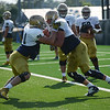 HALEY WARD | THE GOSHEN NEWS<br /> during Notre Dame football practice Wednesday.