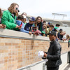 CHAD WEAVER | THE GOSHEN NEWS<br /> Former Notre Dame quarterback DeShone Kizer sings autographs for fans during the first half of Saturday's Blue-Gold game at Notre Dame Stadium.