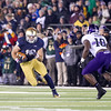 SAM HOUSEHOLDER | THE GOSHEN NEWS<br /> during the game in South Bend Saturday. Northwestern defeated Notre Dame 43-40 in overtime.
