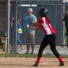 SAM HOUSEHOLDER | THE GOSHEN NEWS<br /> Elizabeth Ramirez hits the ball during the game against Mishawaka Wednesday.