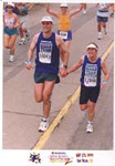 Kris and I approach the finish of the 1999 San Diego Rock 'n Roll Marathon.