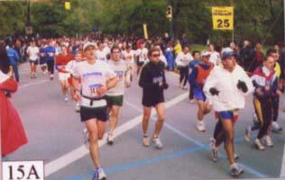 2002 New York City Marathon - mile 25.