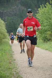 2006 Deadwood Mickelson Trail Marathon - 14 miles of uphill.