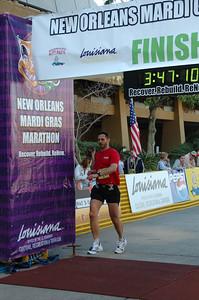 2006 Mardi Gras Marathon - a new personal best.