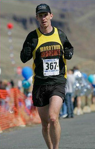 2009 Yakima River Canyon Marathon - first 26.2 following a near-fatal bicycle accident.