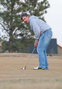 Austin Kaufman a sophomore on the Gering golf team.