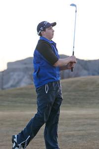 Reggie Reyes a senior on the Gering golf team.
