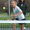 Bryan Helvie | The Herald-Tribune<br /> DOUBLES PLAY: Oldenburg Academy's Margaret Glaser teamed up with Ivy Glaser to win at No. 2 doubles against Greensburg.