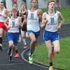 Bryan Helvie | The Herald-Tribune<br /> ONE MILE: Batesville runners (from right) Connor Bell, Garrett Yorn and Chris Riffle take the earl lead in the 1,600-meter run.