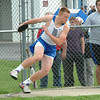 Bryan Helvie | The Herald-Tribune<br /> DISCUS: Batesville's Kevin Bedel competes in the discus competition at home agianst Jac-Cen-Del, North Decatur and Hauser.