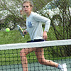Bryan Helvie | The Herald-Tribune<br /> FOREHAND: Oldenburg Academy's Molly Rippe eyes a forehand her match at No. 2 singles against the Greensburg Lady Pirates.