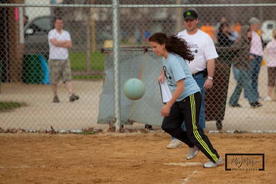 Jodi after a sneaky bunt.