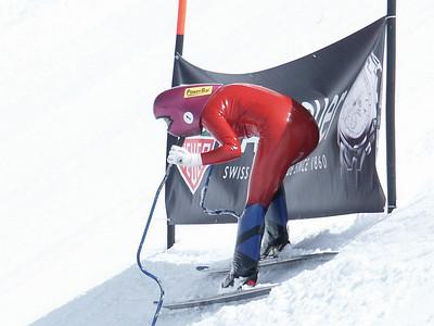 Speed skiing Start in Verbier