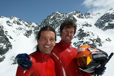 Speed skiing World Cup 2009 Winner Simone Origone ITA Second Philippe May SUI
