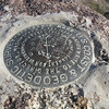 Survey marker from 1939 on top of Murray Hill (Peak).