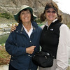 Bonnie Stroock and Linda Jeffers - two fearless leaders, the only two hikers who showed up for the Mission Creek Preserve hike!