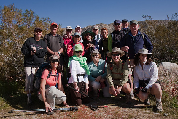 Our largest Mission Hills CC Hiking Group to date.<br /> Front: L>R Stacy, Chris, Peggy, Gail, Linda<br /> Midddle: L>R Diane, Fred, Suzan, Gail, Frank, Greg<br /> Rear: L>R Walt, Jack, Steve, Barbara, Bernie