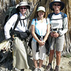 Linda, Ronna and Heidi. Our planned hike was aborted due to rain at the PCT trailhead up Highway 74, 40 minutes from home. The 2nd choice hike, the Art Smith trail was perfect. We all hiked very leisurely enjoying the scenery (Ronna hadn't hiked this trail before), the camaraderie and lots of photo ops as the color was abundant, as were all the insects and lizards Ronna pointed out. We were out for about 3 hours and 35 minutes, which included a 20 minute break.