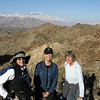 Linda, Ellen and Sandy with San Jacinto, on the left, and San Gorgonio on the right.
