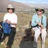 Karen and Peggy with San Gorgonio in the distance.