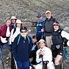 left side of group photo, rear to front: Roberta, Sandy, Karen and Carol.<br /> right side of photo, rear to front: Frank, Ernie and Linda.<br /> center of photo, rear to front: Ellen and Peggy.