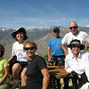 Another hiker took this group shot. San Jacinto mountains have remaining north side snow.