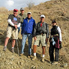 """Big Horn Overlook trail-15<br /> L-R Kern, Bill, Michael, Steve and Linda posing for our self timed """"Group Shot""""."""
