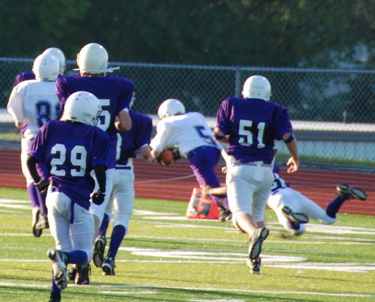 Joe makes it in! Touchdown!