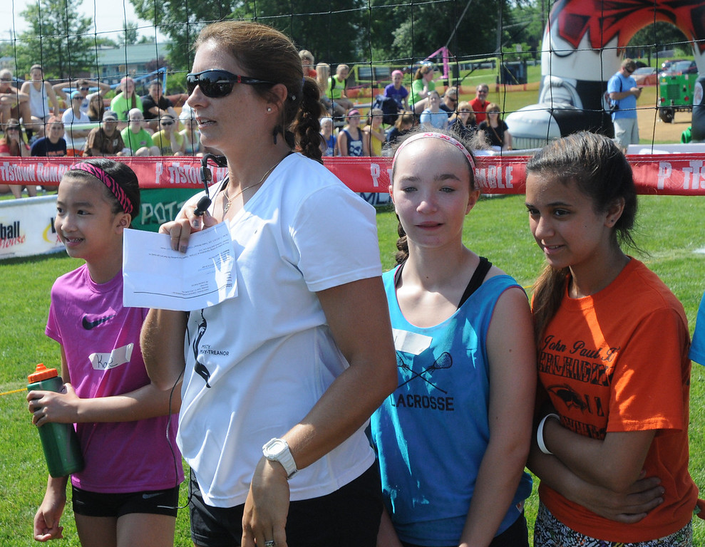 . Misty May-Treanor speaks to participants of the Dream in Gold Clinic. (Photo by John Strickler/The Mercury)