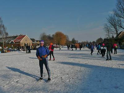 At the finish of the molentocht in Alblasserdam, 12 February 2012