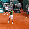 Rafa's Warmup Before the Final