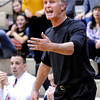"""Monarch High School Head Coach Ken Niven argues a call with the referee during a game against Air Academy High School on Friday, Dec. 16, at Monarch High School. Monarch lost the game 55-51. For more photos of the game go to  <a href=""""http://www.dailycamera.com"""">http://www.dailycamera.com</a><br /> Jeremy Papasso/ Camera"""