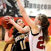 "Monarch High School junior Rebecca Richmond drives towards the hoop on Friday, Feb. 11, during a basketball game against Fairview High School at Fairview. Monarch defeated Fairview 44-37. For more photos go to  <a href=""http://www.dailycamera.com"">http://www.dailycamera.com</a><br /> Jeremy Papasso/ Camera"