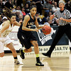 "Legacy High School's Kailey Edwards drives past Monarch's Rebecca Richmond during the Class 5A Colorado State Championship game against Monarch High School on Friday, March 9, at the Coors Event Center on the University of Colorado campus in Boulder. Legacy won the game 58-51. For more photos of the game go to  <a href=""http://www.dailycamera.com"">http://www.dailycamera.com</a><br /> Jeremy Papasso/ Camera"
