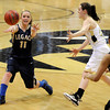 "Legacy High School's Emily Glen passes the ball during the Class 5A Colorado State Championship game against Monarch High School on Friday, March 9, at the Coors Event Center on the University of Colorado campus in Boulder. Legacy won the game 58-51. For more photos of the game go to  <a href=""http://www.dailycamera.com"">http://www.dailycamera.com</a><br /> Jeremy Papasso/ Camera"