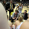 "Monarch High School Head Coach Gail Hook talks with her team during a time-out in the Class 5A Colorado State Championship game against Legacy High School on Friday, March 9, at the Coors Event Center on the University of Colorado campus in Boulder. Legacy won the game 58-51. For more photos of the game go to  <a href=""http://www.dailycamera.com"">http://www.dailycamera.com</a><br /> Jeremy Papasso/ Camera"