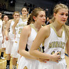 "Monarch High School's Ashton Davis, right, and Francesca Cendall, middle, show their emotions after losing the the Class 5A Colorado State Championship game against Legacy High School on Friday, March 9, at the Coors Event Center on the University of Colorado campus in Boulder. Legacy won the game 58-51. For more photos of the game go to  <a href=""http://www.dailycamera.com"">http://www.dailycamera.com</a><br /> Jeremy Papasso/ Camera"