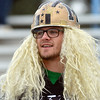 Monarch fan Davis Whitaker is prepared to cheer for the Coyote's during the state 4A semi-final game against Pueblo West at Warrior Stadium on Saturday.<br /> <br /> November 24, 2012<br /> staff photo/ David R. Jennings