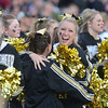 Monarch cheerleaders celebrate after the Coyote' win over Pueblo West in the state 4A semi-final game at Warrior Stadium in Lafayette on Saturday.<br /> <br /> November 24, 2012<br /> staff photo/ David R. Jennings