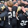 Monarch players celebrate with fans after defeating Pueblo West in the state 4A semi-final game at Warrior Stadium in Lafayette on Saturday.<br /> <br /> November 24, 2012<br /> staff photo/ David R. Jennings