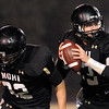 "Monarch High School quarterback Cody Sloan looks for an open receiver on Friday, Nov. 12, during a football game against Longmont High School at Centaurus High School in Lafayette. Longmont defeated Monarch 42-24.<br /> For more photos go to  <a href=""http://www.dailycamera.com"">http://www.dailycamera.com</a><br /> Photo by Jeremy Papasso"