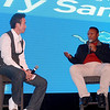 Barry Sanders Q&A with the fans during Monday Night Football. Photo credit: Kerry Hotel Pudong.