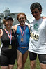 The victorious triathletes, Karen, Pierre and Olivio.