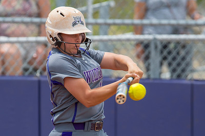 Weber's Rae Gall (11) gets a piece of the ball for a base hit against Montana Grizzlies at Weber State University on Saturday May 6, 2017.