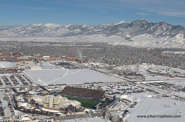 Montana State University Football Playoff Game Aerial Photos