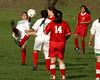 Montclair Soccer Club's Yo Mamas (Red Devils) vs. Oakland's Las Aztecas in the U14G Gold Flight of the JLYSSL End-of-Season Tournament on Nov. 19, 2006. The game ended in a 1-1 tie.