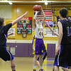 Monty Tech player Brandon Terho puts up a shoot during action in the game. SENTINEL & ENTERPRISE/JOHN LOVE